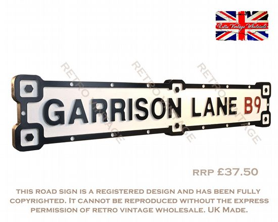 Industrial White Finish Road Signs
